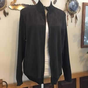 Classic Woman faux suede sweater jacket XL